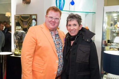 Wyatt Koch and Beth Rudin DeWoody at Lighthouse Guild cocktail party.