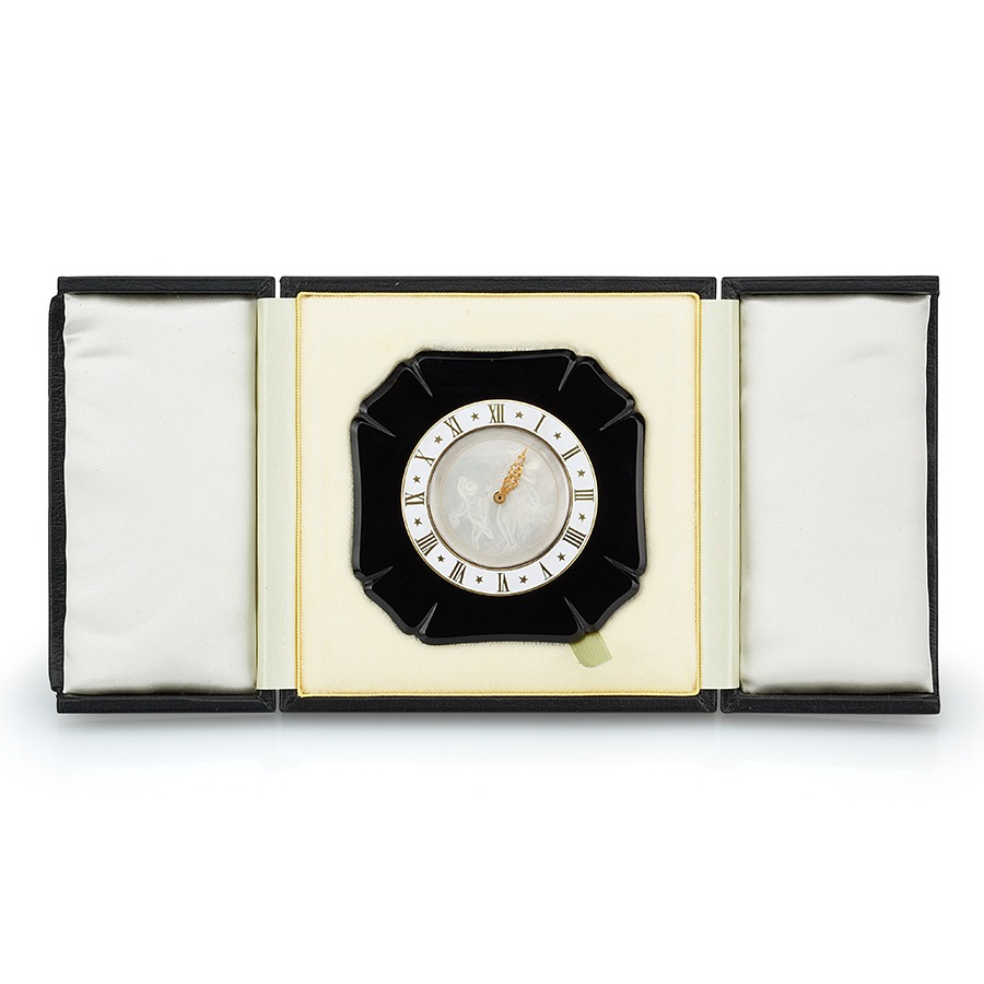 French Art Deco Black Onyx Easel Clock The Silver Fund