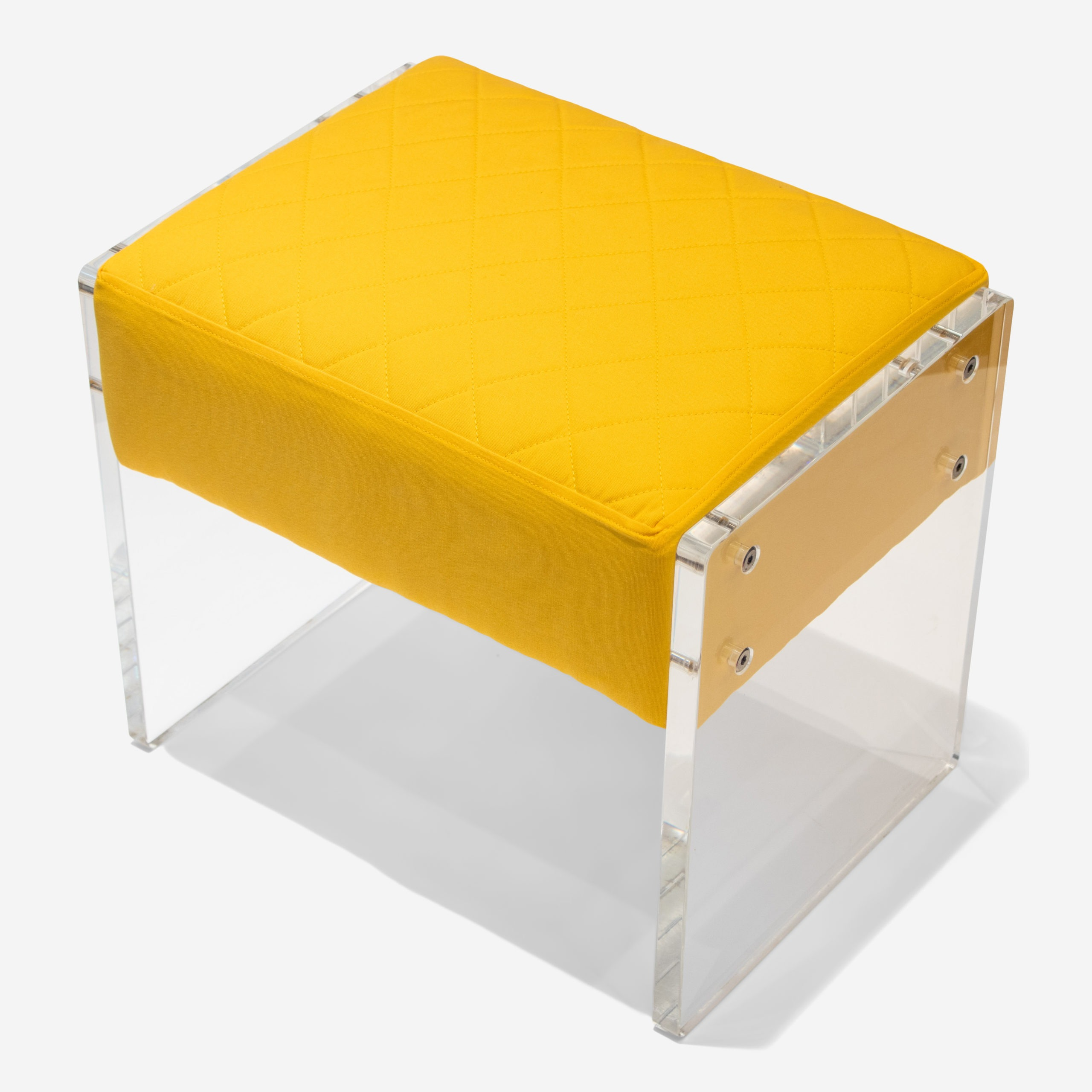 Yellow Lucite Foot Stool The Silver Fund